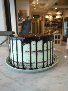 handcrafted cake